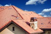 House Slates Roof — Stock Photo