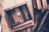Old Wooden Crates — Stock Photo