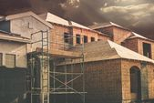 Ev yapım aşamasında — Stok fotoğraf