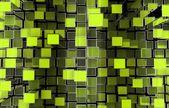 3D Cubes Pattern Backdrop — Foto de Stock