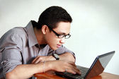 Young man studying — Stock Photo