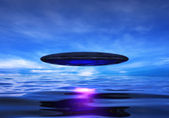 UFO over Sea — Stock Photo