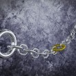 Chain with Golden Link — Stock Photo