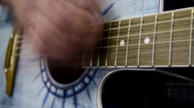 Verrückt-Gitarrist — Stockvideo