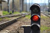 Railway semaphore — Stock Photo