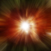 Explosion of red galaxy — Stock Photo