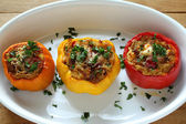 Stuffed peppers — 图库照片