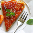 Apricot tart — Stock Photo