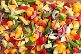 Diced vegetables — Stock Photo