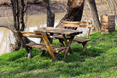 Table in nature — Foto Stock