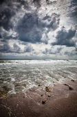 Storm on the sea after a rain — Stock Photo