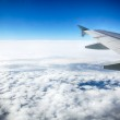 View of clouds from a airplane window. HDR image — Stock Photo #23084038