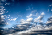 Dramatic stormy clouds. — Stock Photo