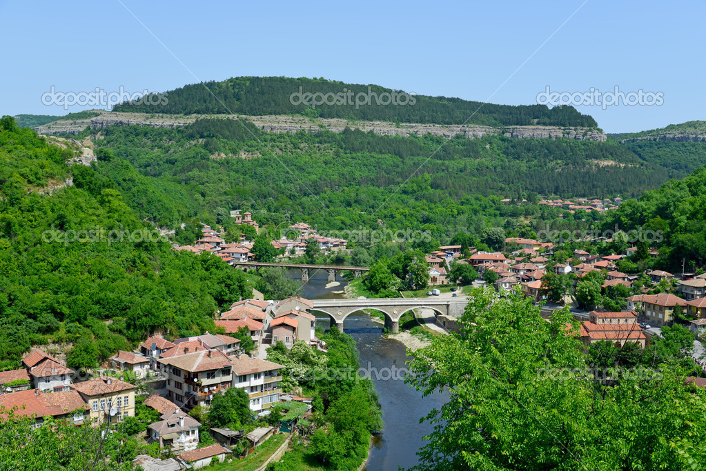Veliko Tarnovo Bulgaria  city pictures gallery : View from old town Veliko Tarnovo in Bulgaria — Stock Photo ...