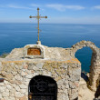 Chapel of St. Nicholas at Cape Kaliakra in Bulgaria — Foto de Stock