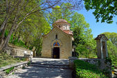 Medieval Orthodox church shot at Balchik, Bulgaria — Foto de Stock
