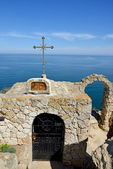Chapel of St. Nicholas at Cape Kaliakra in Bulgaria — Stock Photo