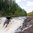 Stock Photo: Waterfall Kivach in Karelia, Russia
