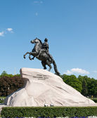 Bronze Horseman. St Petersburg, Russia. — Stock Photo