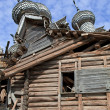 Stock Photo: Old destroyed wooden church in Karelia