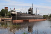 Docked submarine — Stock Photo