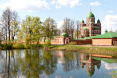Great monasteries of Russia. Borodino — Stock Photo