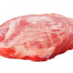 carne de cerdo cruda fresca aislada sobre fondo blanco — Foto de Stock   #35062407