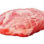 verse rauwe varkensvlees geïsoleerd op witte achtergrond — Stockfoto #35062407