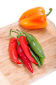 Hot pepper and sweet papper for cooking — Zdjęcie stockowe
