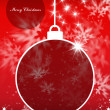 Merry Christmas and Happy New Year background with Christmas ball — Stock Photo