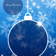 Merry Christmas and Happy New Year background with Christmas ball — Foto de Stock