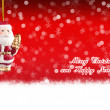 Stock Photo: Merry Christmas and Happy New Year red background with Christmas balls