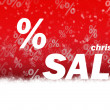 Christmas sale red background — Stock Photo