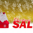 Christmas sale gold background — Stock Photo