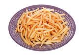 Snabbmat. pommes frites potatis redo att ätas — Stockfoto