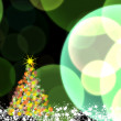 Shinny Christmas tree, abstract background — Stock Photo #35787809