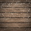 Wooden texture background in snow — Stock Photo #35787819