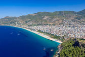 Turkey. Alanya cityscape. Cleopatra's beach — Stock Photo