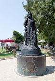 Saint Nicholas statue, Lycia, Myra, Turkey. Statue of San Nicholas near famous church of Saint Nicholas. — Stock Photo