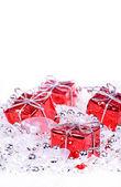 Kerstmis achtergrond met geschenken — Stockfoto