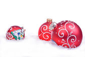 Christmas background with balls isolated on the white background — Stock Photo