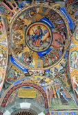 リラ修道院教会で壁絵画。修道院はブルガリアで最大 — ストック写真
