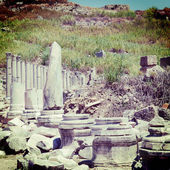 Ancient Ruins Perge Turkey with a retro effect — Stock Photo