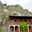 "Rock monastery ""St Dimitrii of Basarbovo"" in Bulgaria — Stock Photo #40137053"