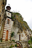 "The rock monastery ""St Dimitrii of Basarbovo"" in Bulgaria — Stock Photo"