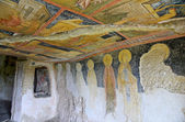 Frescoes in Rock-Hewn Churches of Ivanovo In the valley of the Roussenski Lom River, UNESCO World Heritage Site — Stock Photo