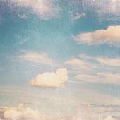 Vintage sfondo blu cielo nuvoloso — Foto Stock