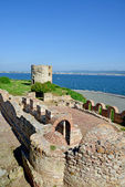 Ancient fortress in Nessebar, Bulgaria. UNESCO World Heritage Site — Stock Photo