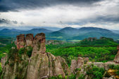 Beautiful view - phenomenon of Belogradchik rocks, Bulgaria.HDR image — Stock Photo
