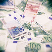 Euro currency banknotes. European money background — Stockfoto